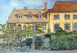 """Home, sweet home - Original pen and wash drawing of a house of your choice, 7"""" x 5"""","""