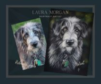 """10"""" x 14"""" pencil portrait from a reference photograph - gifted by portrait artist Laura Morgan"""