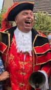 Singing telegram by John Lawrence the Town Cryer i.e.