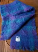 Donegal Design Mohair collection scarf in blues and mauves