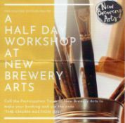 Develop your arts & crafts skills with a half day workshop at New Brewery Arts.