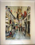 Limited edition (90 of 100) framed print of Black Jack Street, Cirencester,