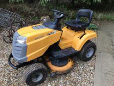 A Stiga Estate Tornado tractor mower