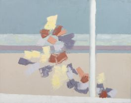 ARR DRUIE BOWETT (1924-1998), Abstract in pastels, oil on canvas, signed to edge on stretcher,