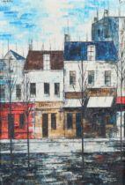 ARR JOSEP MARIA VAYREDA CANADELL (Girone 1932-2001), Paris, street scene with winter trees, oil on