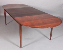 ARNE VODDER FOR SIBAST, Denmark, c.1960s, a Model 227 rosewood veneered extending dining table,