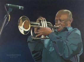 ARR NATHAN TURNBULL (20th century) 'Hugh Masekala 4.4.39 - 23/1/18', renown trumpet player, half