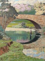 ARR FRANK LEE (1908-?), Brig O Turk, oil on canvas, signed and dated 38 in black lower left, bearing
