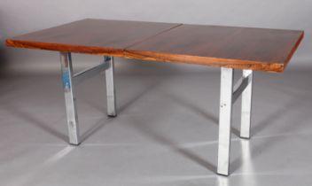 MERROW ASSOCIATES, BRITAIN, c.1970s, a rosewood extending dining table, rectangular, on refectory