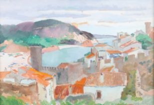 ARR PHILIP NAVIASKY (1894-1983), Mediterranean fishing village and bay, oil on board, signed to