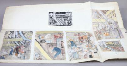 ARR DRUIE BOWETT (1924-1998), Sheffield Twist Drill and Steel Company, five sketches in pencil,