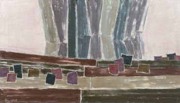 ARR DRUIE BOWETT (1924-1998), Ergho II, abstract landscape, oil on canvas, signed and dated (19)68