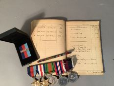 A group of five medals to W.O. W. Grieve R.A.F - 1939/45 star, France and Germany star, Defence
