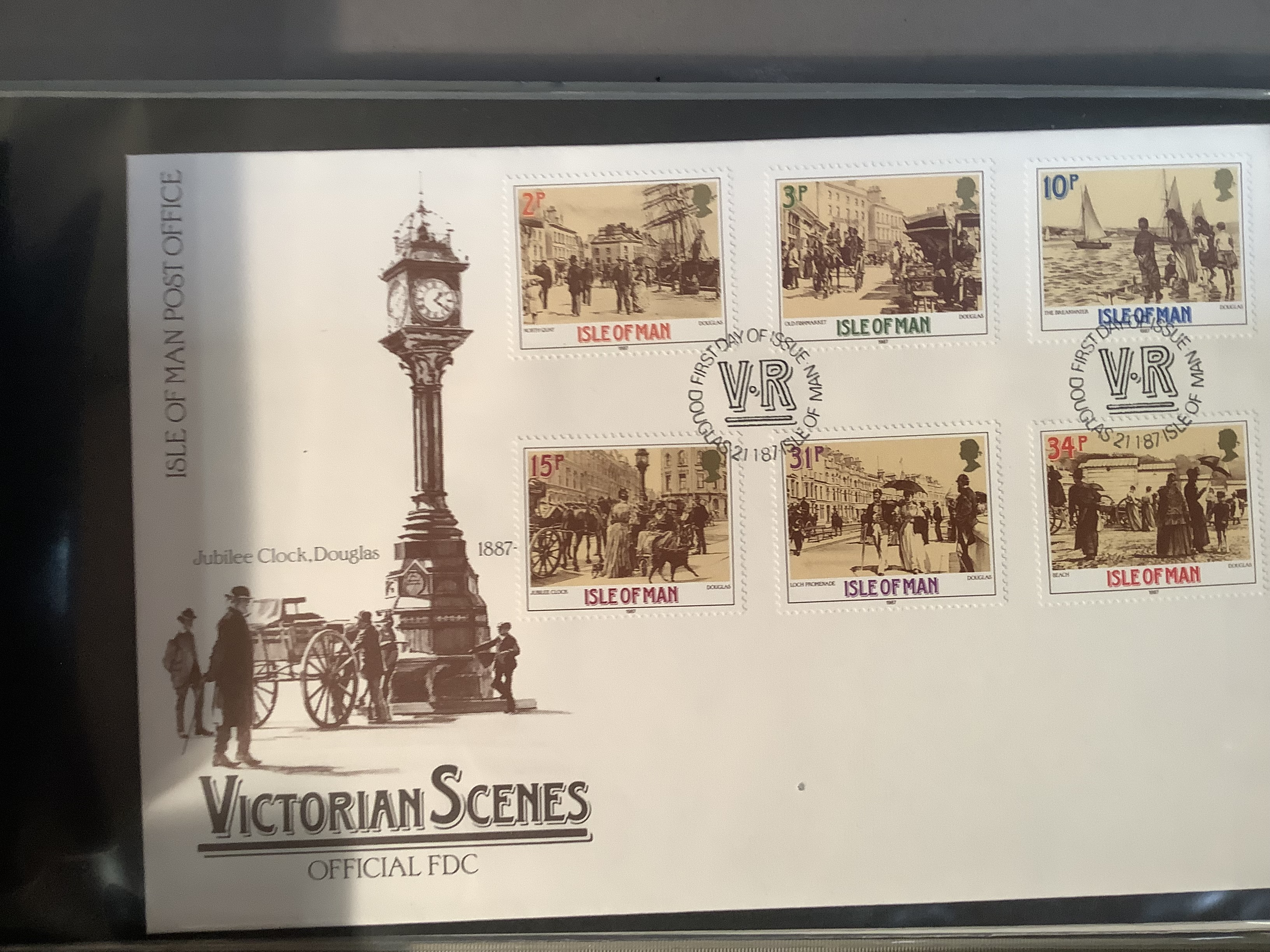 Two ring folders with approximately 100 world FDC's including India, Australia and Isle of Man, - Image 6 of 7