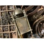 A large quantity of 19th century and early 20th century used clock parts including, barrels, wheels,