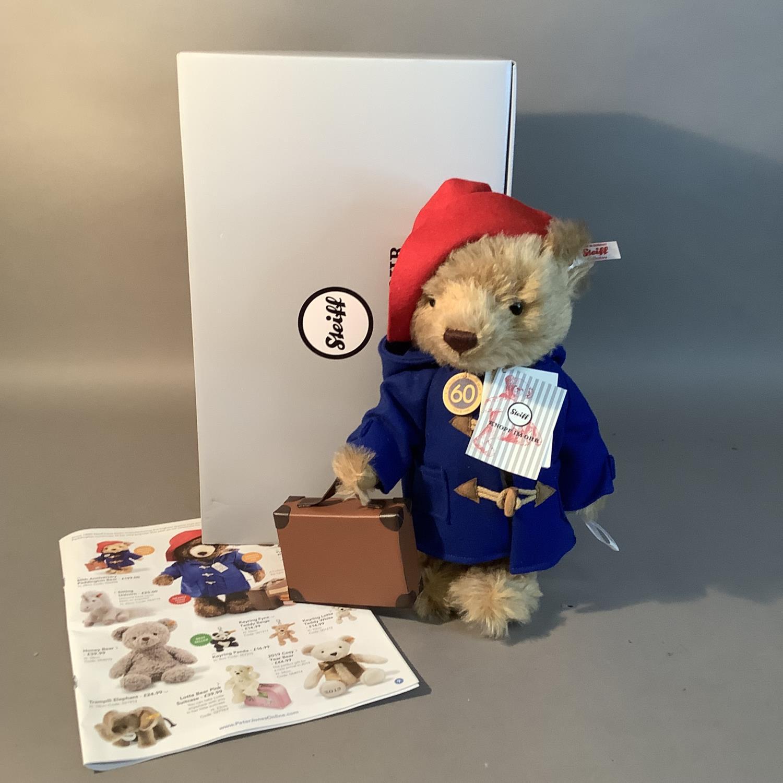 A Steiff limited edition 60th anniversary Paddington Bear, 28cm high, boxed - Image 2 of 3