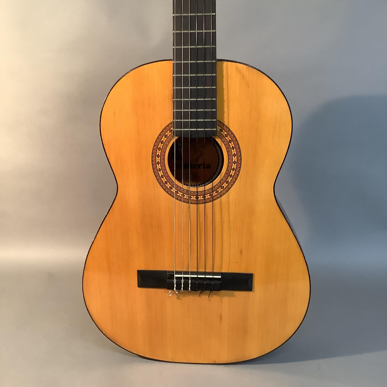 An Admira Almeria classical guitar with Oregon pine top and Sapelli back, ebonized finger plate - Image 6 of 6