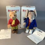 Two Steiff Rupert classic teddy bears, Ruper and Edward Trunk, both boxed (2)