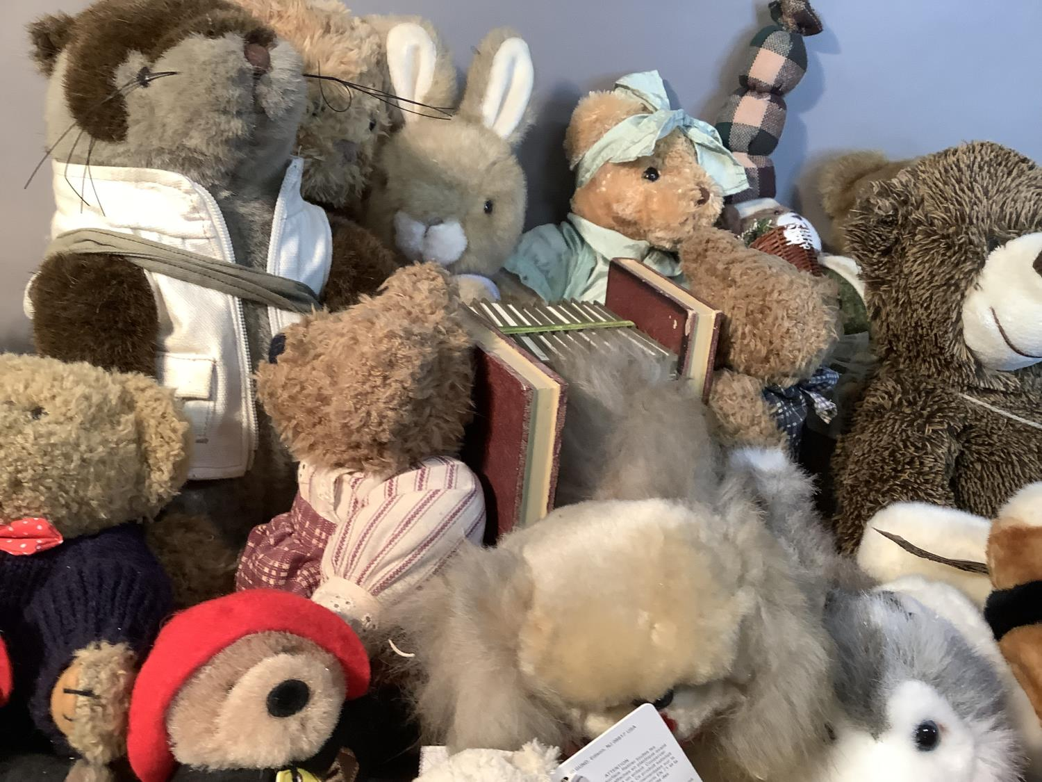 A quantity of miscellaneous plush and other soft toys, various sizes by various manufacturers - Image 3 of 3