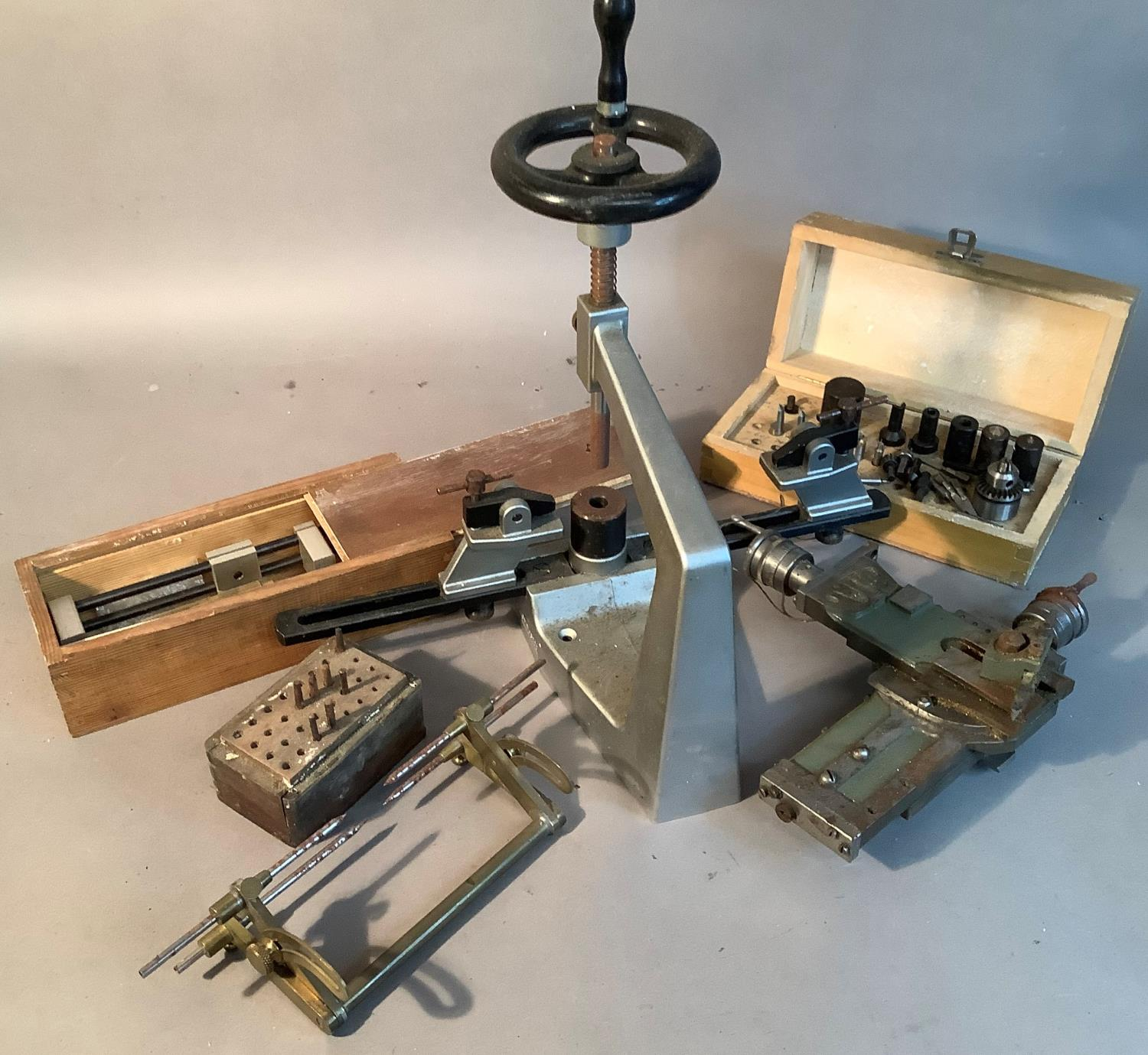 A Bergeon No6200 clock bushing tool with instruction booklet and some associated tools; together - Image 2 of 3