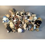 A quantity of plush and other teddy bears by various manufacturers including quantity of Boofle