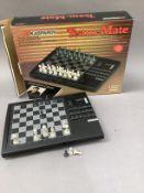 A Team-Mate Kasperov chess computer by Saitek, boxed