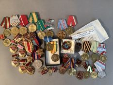 Second World War War Medal, Africa Star and 1939/45 Star, including ribbons, plus miscellaneous