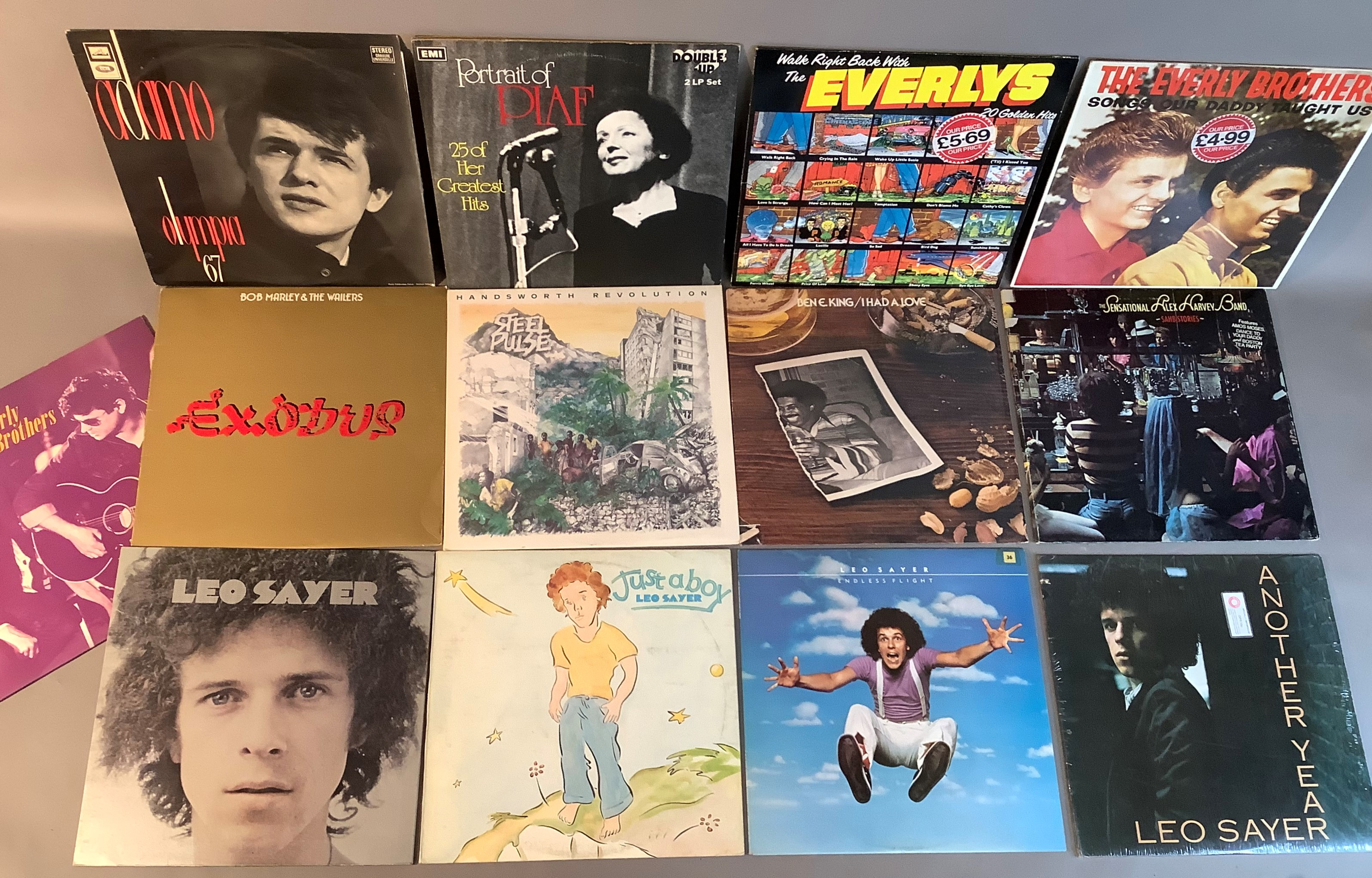 A quantity of LP's to include: Adamo - Olympia '67, Edith Piaf - Portrait of Piaf, Everly Brothers -