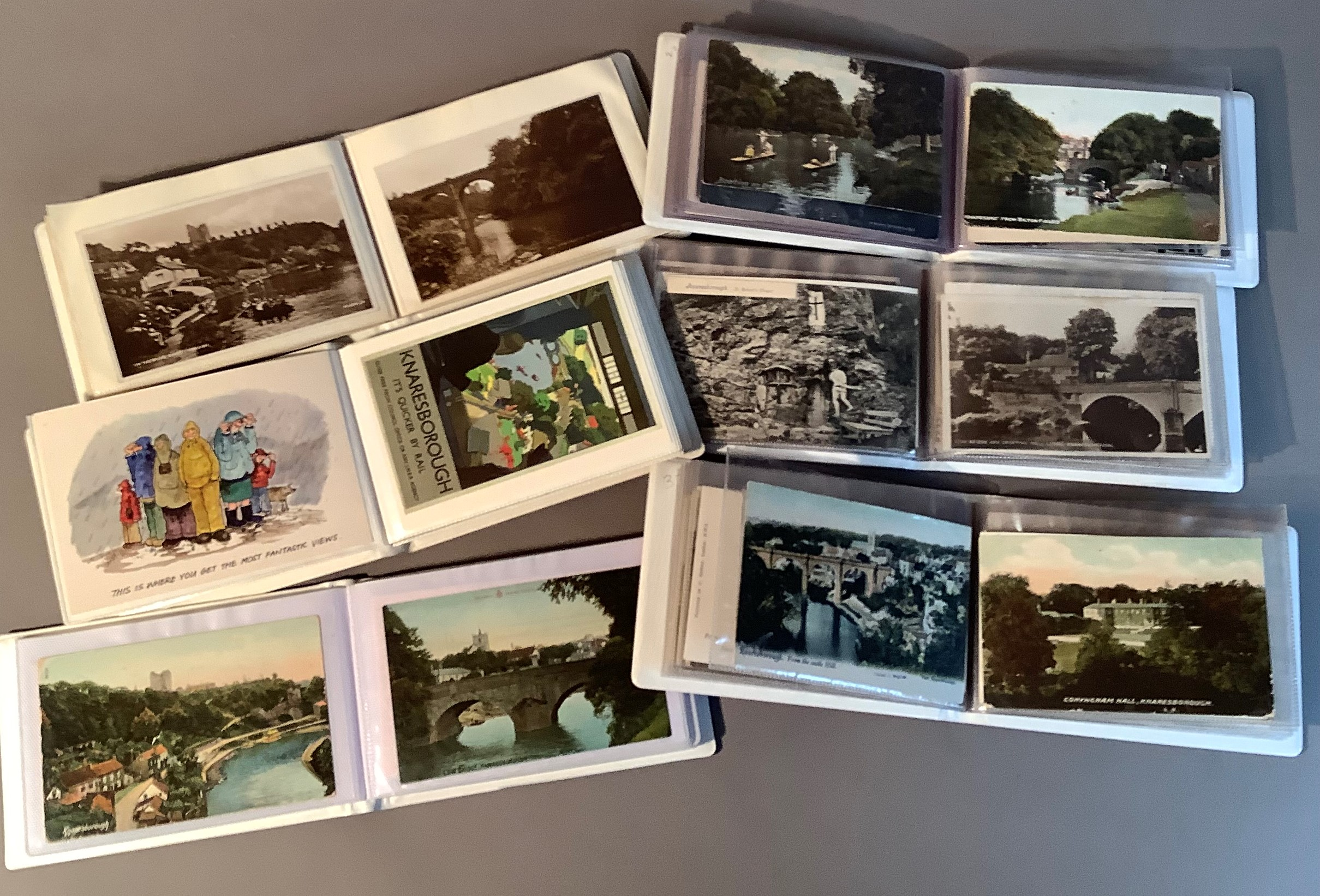 Six albums, local interest, Knaresborough, early to mid 20th century, typical views of the area also
