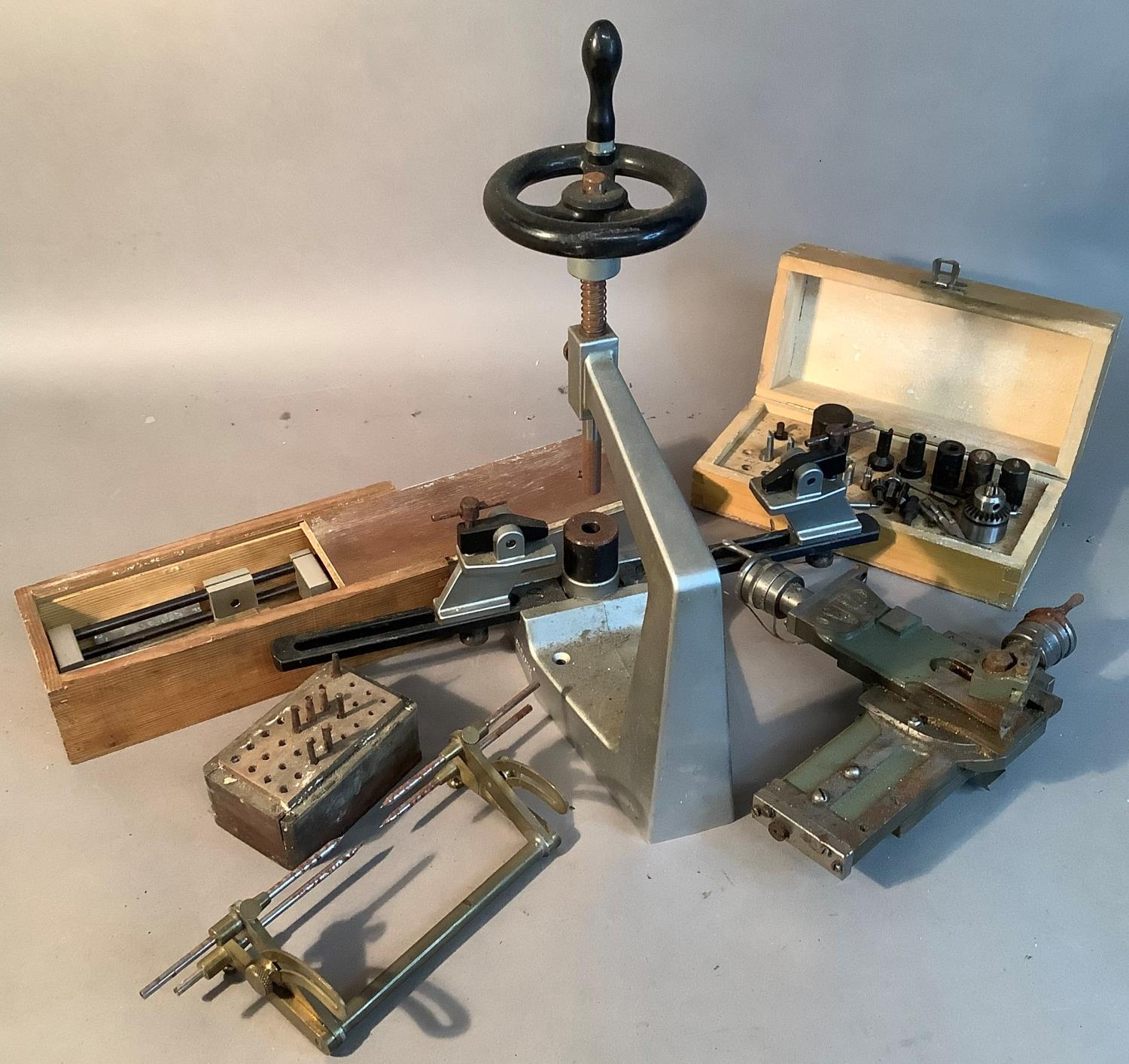 A Bergeon No6200 clock bushing tool with instruction booklet and some associated tools; together - Image 3 of 3