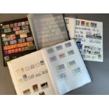 Three stock books with extensive collection of GB Commonwealth stamps including Cook Islands,