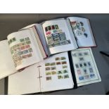 Five ring binder albums with extensive Caribbean and Australian collection, mainly 20th century,