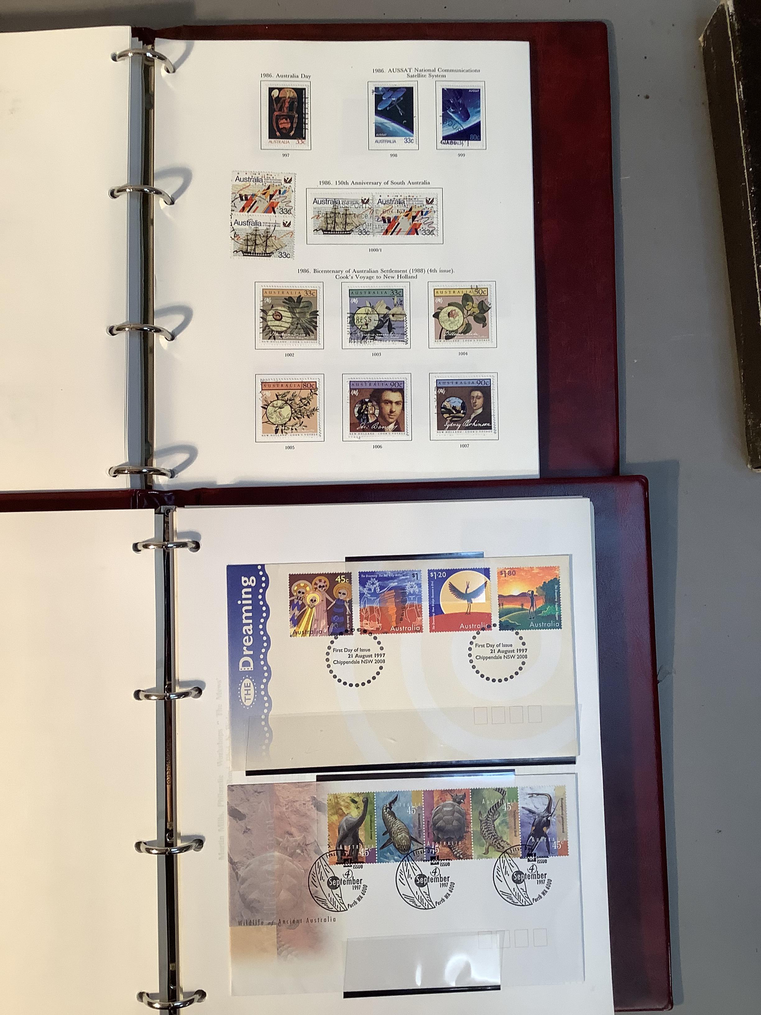 Two SG Australia stamp albums, Australian states for 1856 to 1913, Kangaroos though 20th century