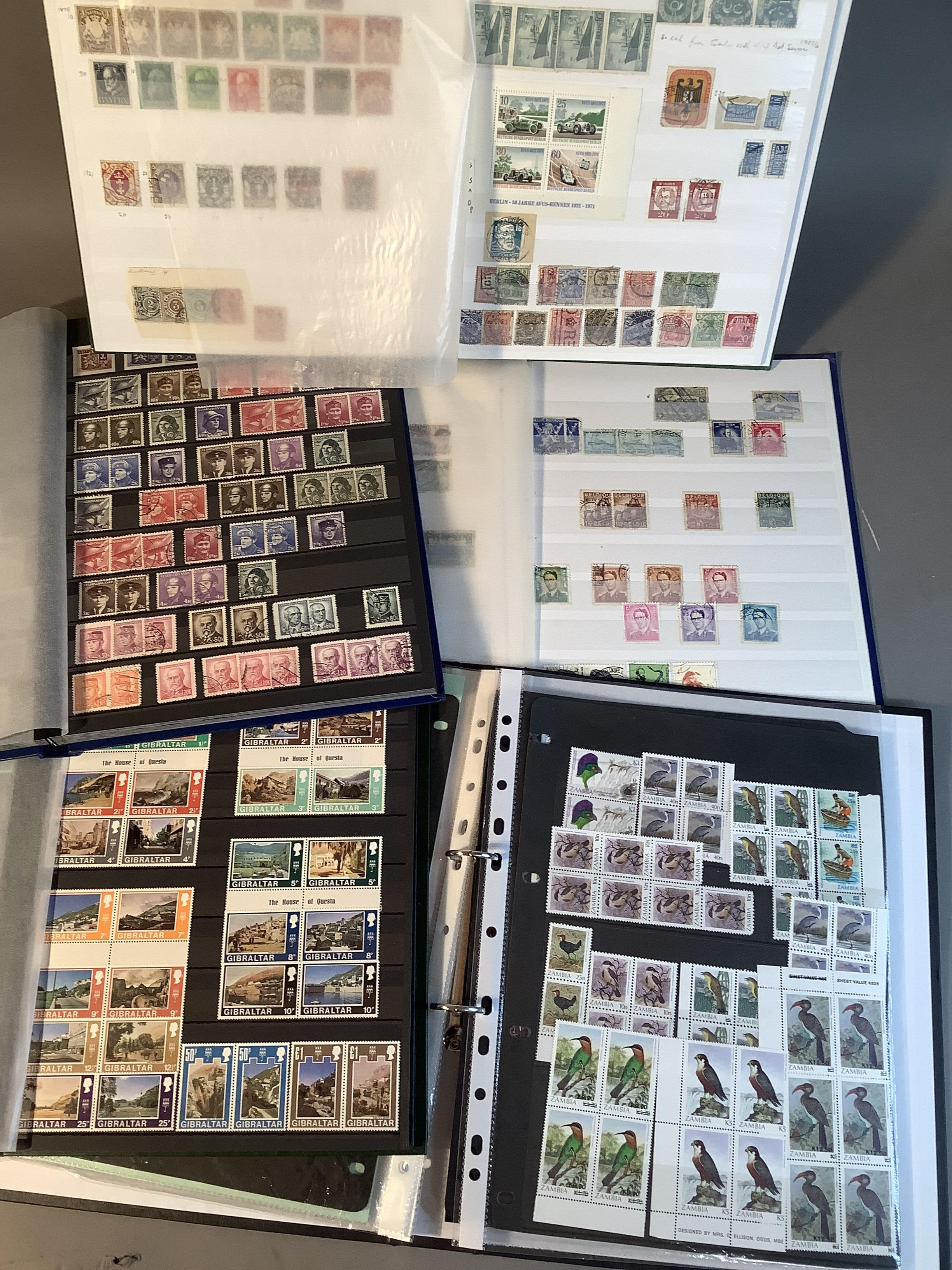 World collection of mixed stamps contained in eight stock books/albums, includes Germany,