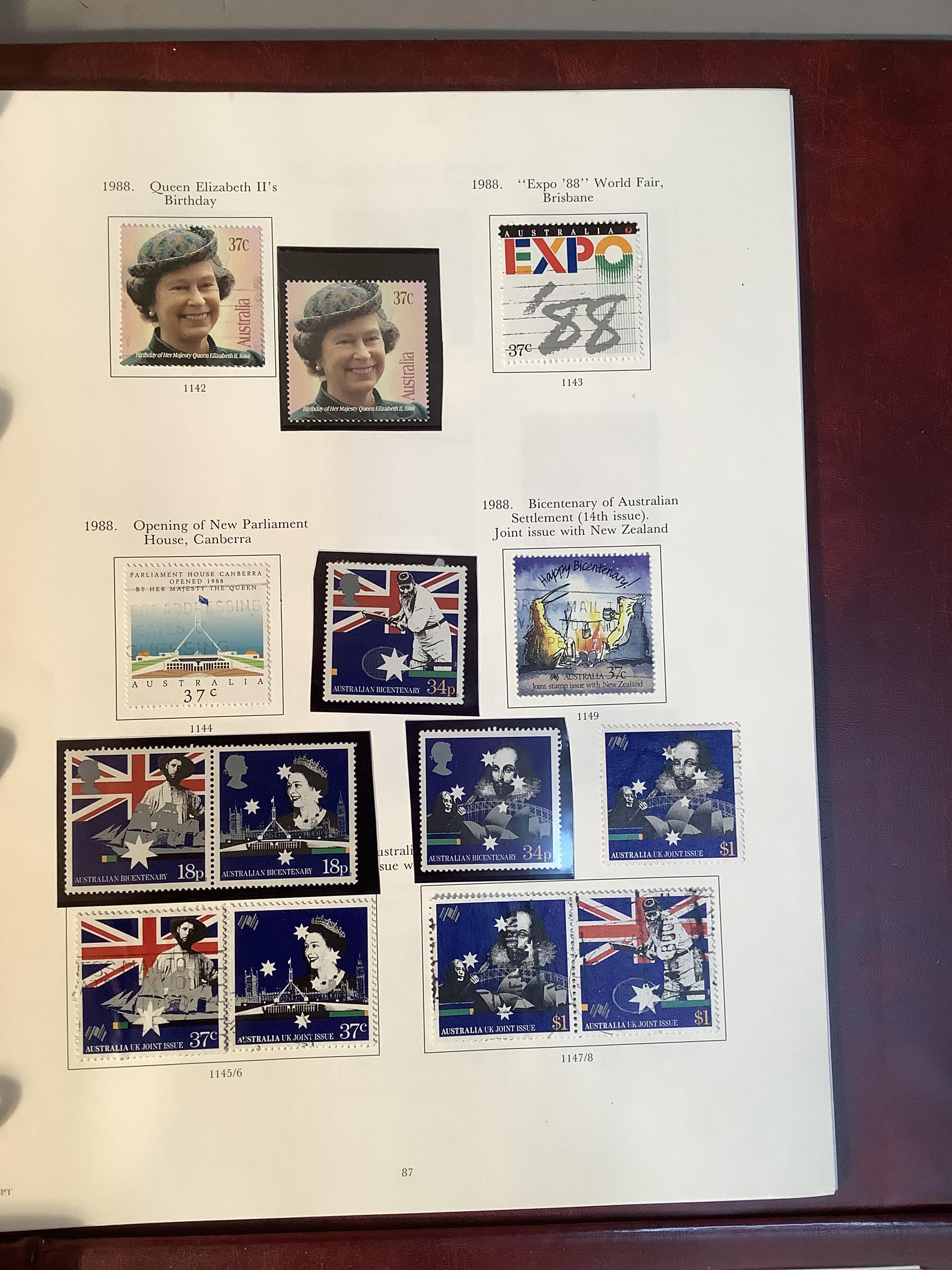 Two SG Australia stamp albums, Australian states for 1856 to 1913, Kangaroos though 20th century - Image 3 of 7