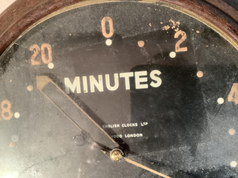 A dark room clock circa 1940 by Smith in brown Bakelite case, approximate diameter 30cm - Image 2 of 2