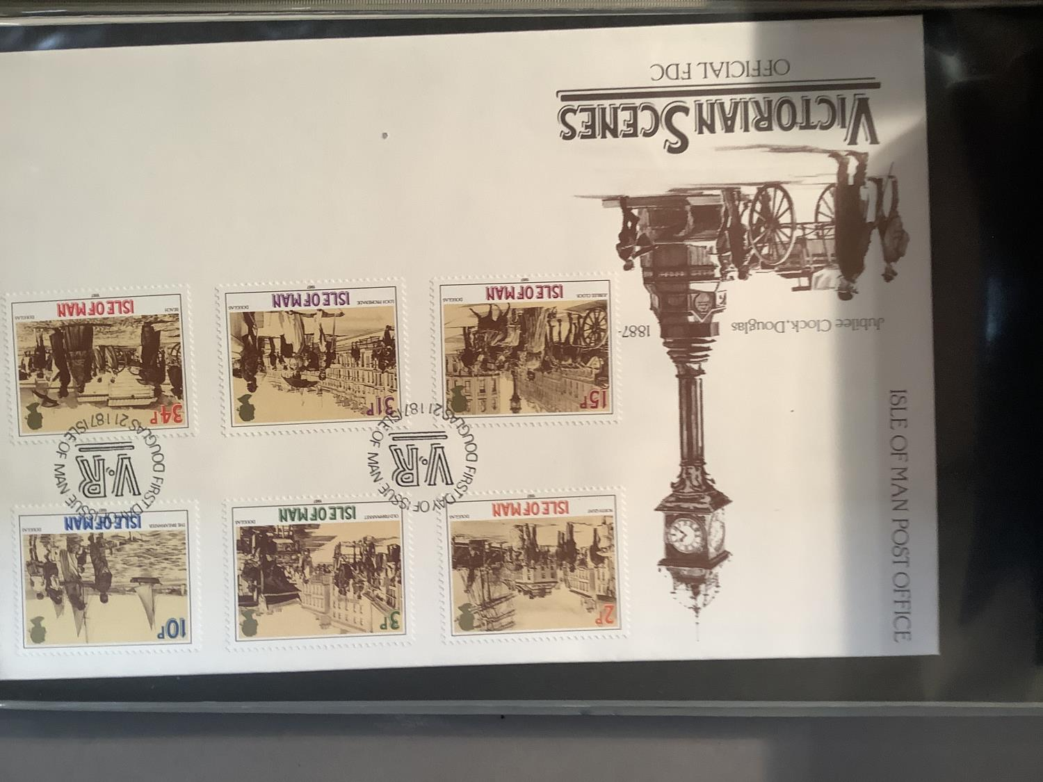 Two ring folders with approximately 100 world FDC's including India, Australia and Isle of Man, - Image 7 of 7
