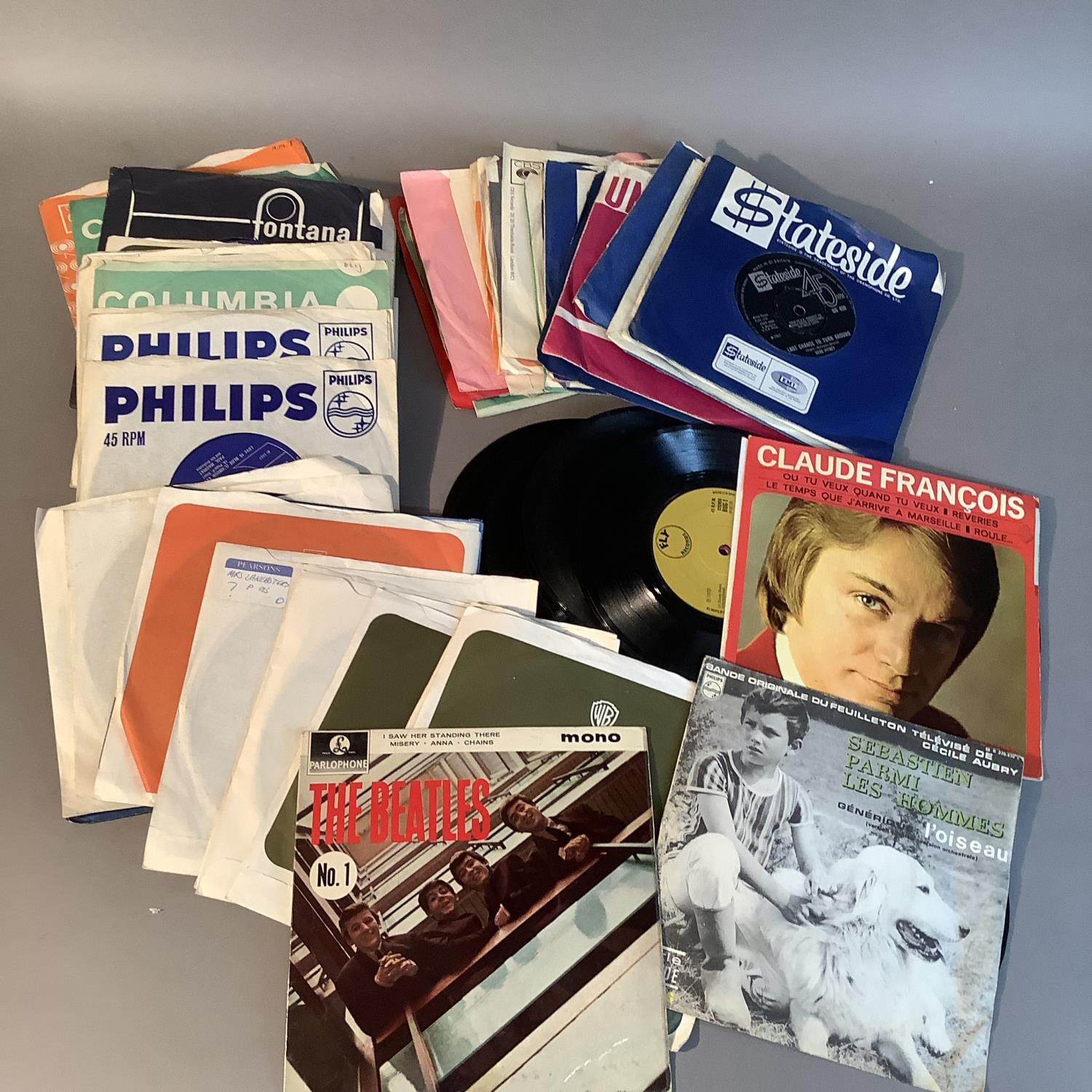 A quantity of 45rpm records to include: The Beatles - I saw her standing there, first published - Image 2 of 3