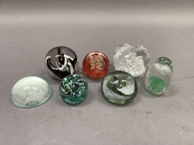 Seven various paperweight, Victorian and modern including examples by Caithness, London 2012,