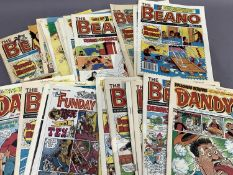 A quantity of Beano and Dandy comics etc