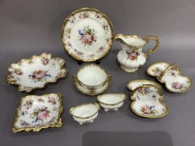 A quantity of Hammersley china Lady Patricia items to include a jug, 16.5cm, consommé cup and