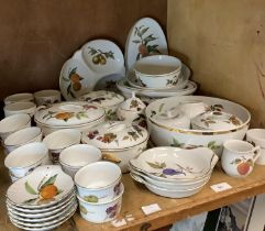 A quantity of Royal Worcester Evesham pattern oven to table ware, comprising tureen, hors d'