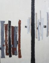 ARR Druie Bowett (1924-1998), Interval, abstract, oil on canvas, signed and (19)64 to lower left,