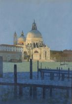 ARR Peter Kelly, NEAC, RBA (1931-2019), Chiesa San Simeon Piccolo, Grand Canal, Venice, oil on