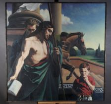 ARR Christopher D Gill (20th/21st century)Childhood Ambition, Boy with figures, jockey and