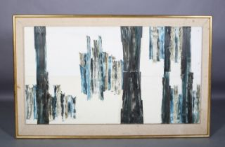 ARR Druie Bowett (1924-1998), Ontract, abstract reflections, oil on canvas, incised signature and
