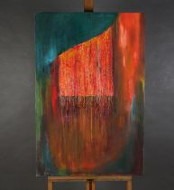 Norma Galley, 'Pashmina,' 20th Century, ARR, mixed media on canvas, signed and dated 2000 to lower