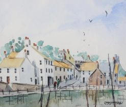 ARR H. Robertson, 20th century, Crail, Fife, watercolour, signed to lower right, attribution and