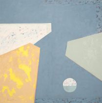 ARR Druie Bowett (1924-1998), Wedges and Bauble, abstract, oil on canvas, signed and dated (19)96 to