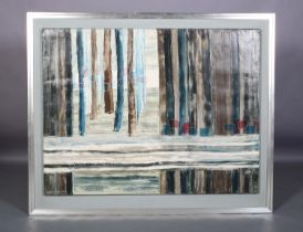 ARR Druie Bowett (1924-1998),Gap, abstract landscape, oil on canvas, signed and dated (19)66, title,